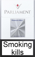 Parliament Platinum Blue Cigarette Pack