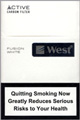 West Fusion White Cigarette pack
